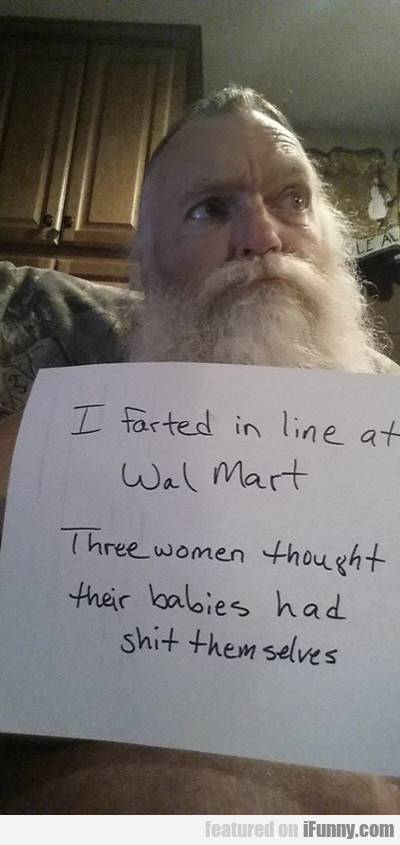 I Farted In Line At Wal-mart...