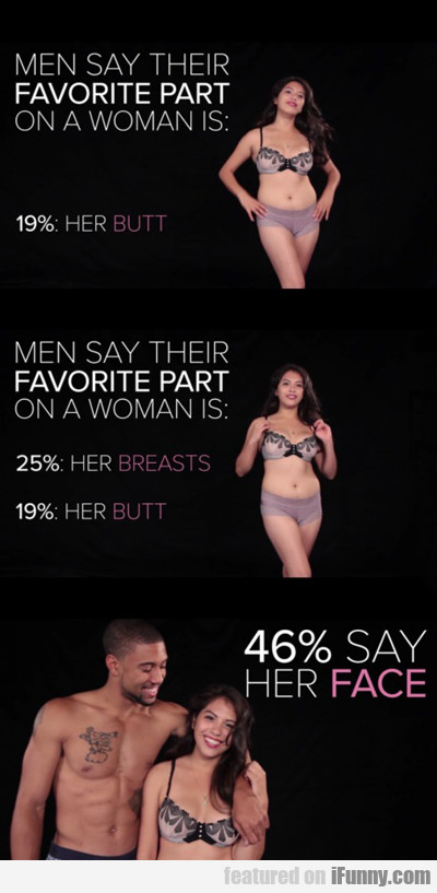 Men Say Their Favorite Part On A Woman Is...