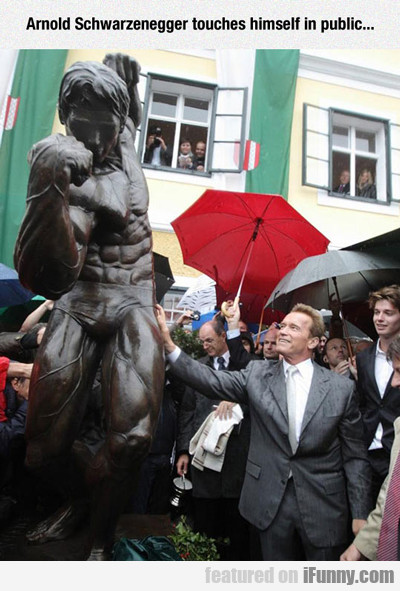 Arnold Schwarzenegger Touches Himself In Public...