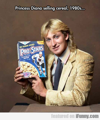 princess diana selling cereal...