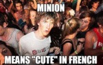 Minion Means Cute In French...
