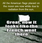 All The American Flags Places On The Moon...