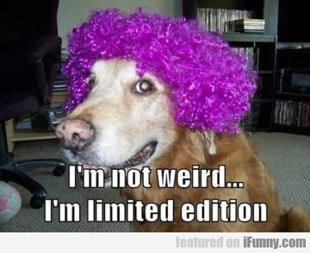 i m not weird i m limited edition.