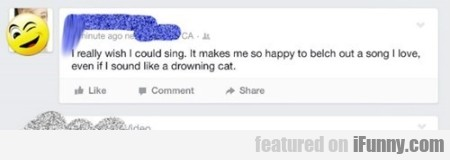 i really wish i could sing