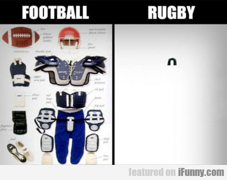 football vs. rugby...