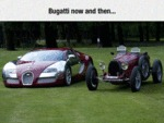 Bugatti Now And Then...