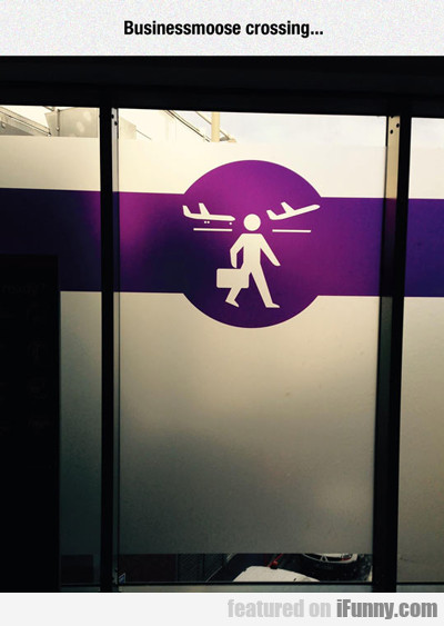 Businessmoose Crossing...