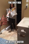 The Only Use Of A Little Sister...