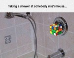 Taking A Shower At Somebody Else's Home...