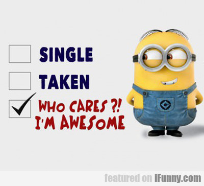 single vs. taken...