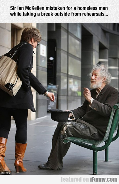 Sir Ian Mckellen Mistaken For A Homeless Man...