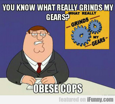 You Know What Really Grinds My Gears? Obese Cops