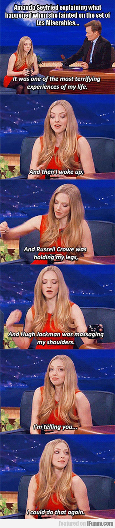 Amanda Seyfried Explaining What Happened...