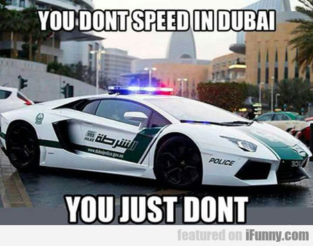 You Don't Speed In Dubai...