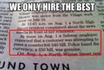 We Only Hire The Best...