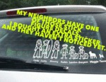 My Neighbors Have One Of Those Stick Figure Decals