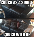 Couch As Single Vs Couch With Gf