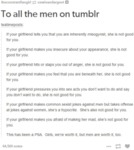 To All The Men On Tumblr