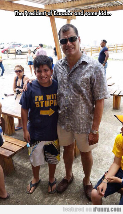 The President Of Ecuador And Some Kid...