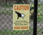 Caution, Urine Danger...