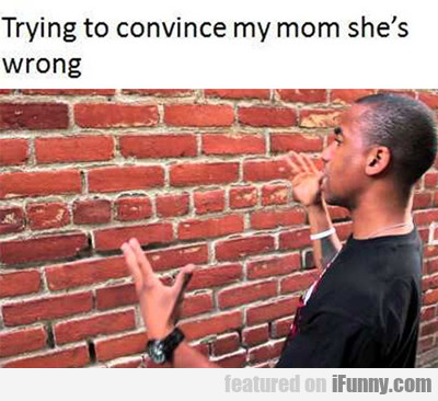 Trying To Convince My Mom...