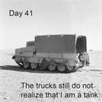 Day 41, The Trucks Still Do Not Realize...