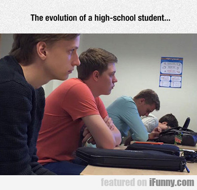 The Evolution Of A High School Student...