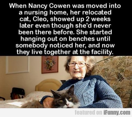 When Nancy Cowen Was Moved