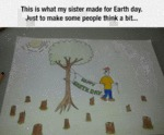 This Is What My Sister Made For Earth Day...