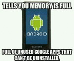 Tells You Memory Is Full...