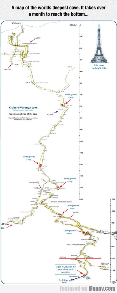 A Map Of The Worlds Deepest Cave