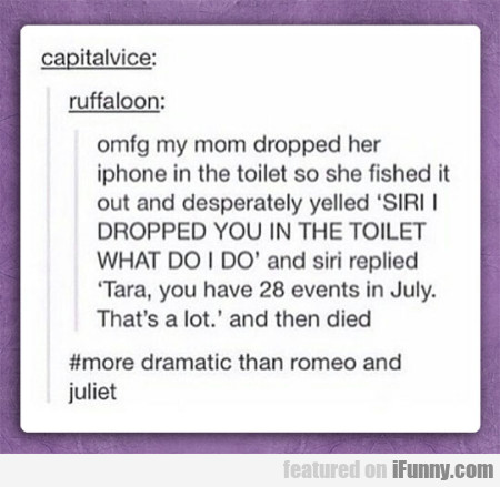 Omfg My Mom Dropped Her Iphone In The Toilet