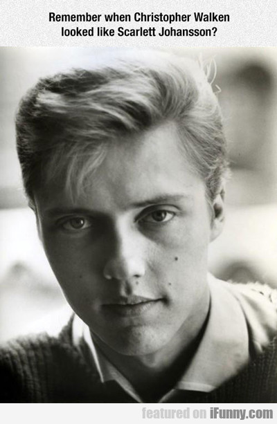 Remember When Christopher Walken Looked Like....
