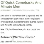 Of Quick Comebacks And Minute Men