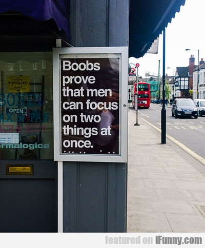 Boobs Prove That Men Can...