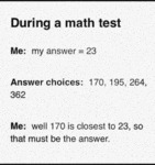 During A Math Test...