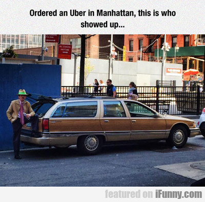 ordered an uber in manhattan...