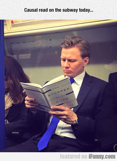 Casual Read On The Subway Today...