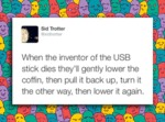 When The Inventor Of The Usb Stick Dies...