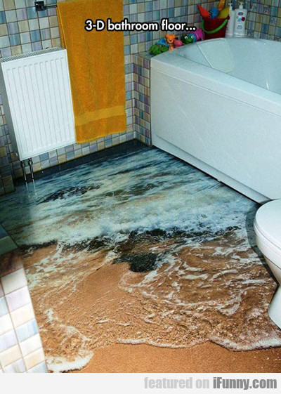 3-d Bathroom Floor...