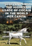 Scotland Has The Highest Usage Of Cocaine...