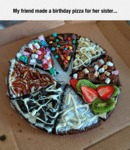 My Friend Made A Birthday Pizza For Her Sister...