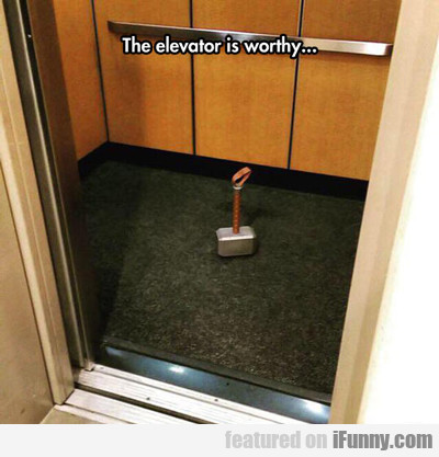 The Elevator Is Worthy...