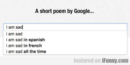 A Short Poem By Google