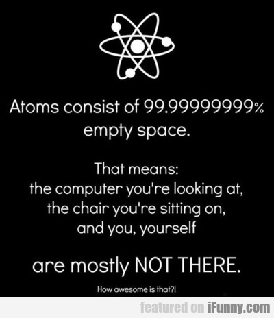 Atoms Consists Of Empty Space...