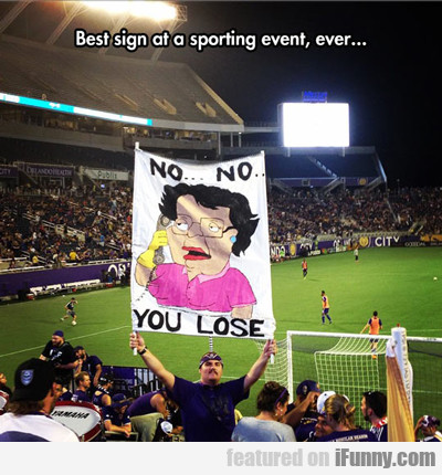 Best Sign At A Sporting Event, Ever...
