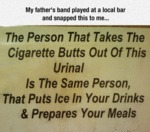My Father's Band Played At A Local Bar...