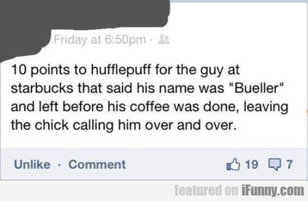 10 Points To Hufflepuff