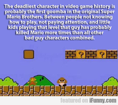 The Deadliest Character In Video Game History...
