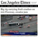 Big Rig Carrying Fruit Crashes On Highway...